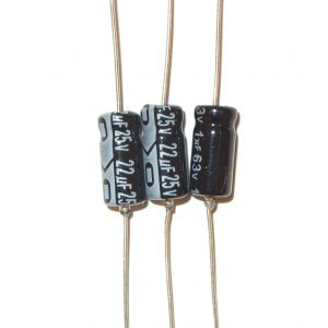 Replacement axial electrolytic capacitors for Sinclair ZX81 (issue 3)