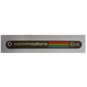 Badge for breadbin C64 - C= Commodore 64 Rainbow
