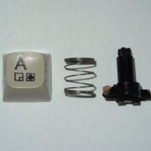 """COMMODORE 128 C Replacement Key """"Control"""" With Spring Plunger Control Keyboard"""