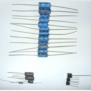 Blue axial capacitors For Spectrum 16/48 and Composite Mod Kit