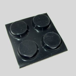 Four new black rubber feet for breadbin C64